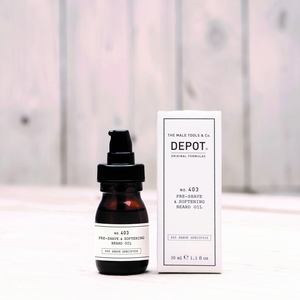 DEPOT No.403 PRE-SHAVE&SOFT BEARD OIL SWEET ALMOND  30ML