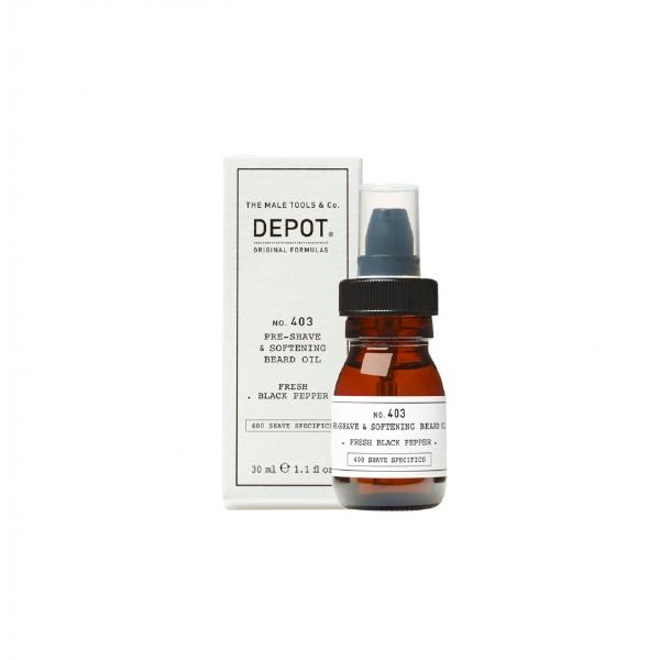 DEPOT No.403 PRE-SHAVE&SOFT BEARD OIL FRESH BLACK PEPPER  30ML