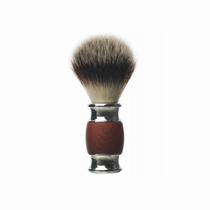 DEPOT No.731 SHAVING BRUSH WOOD&STEEL LUXURY