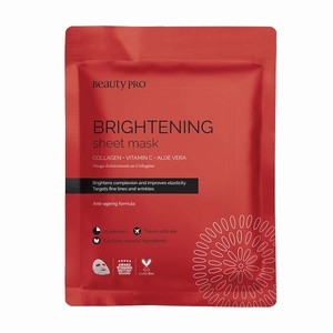 BEAUTYPRO BRIGHTENING COLLAGEN SHEET MASK