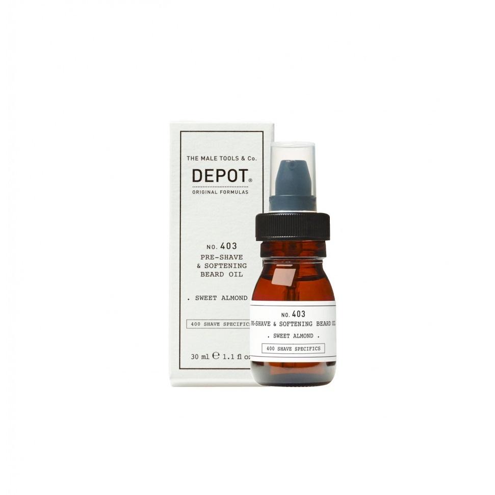 DEPOT No.403 PRE-SHAVE&SOFT BEARD OIL SWEET ALMOND