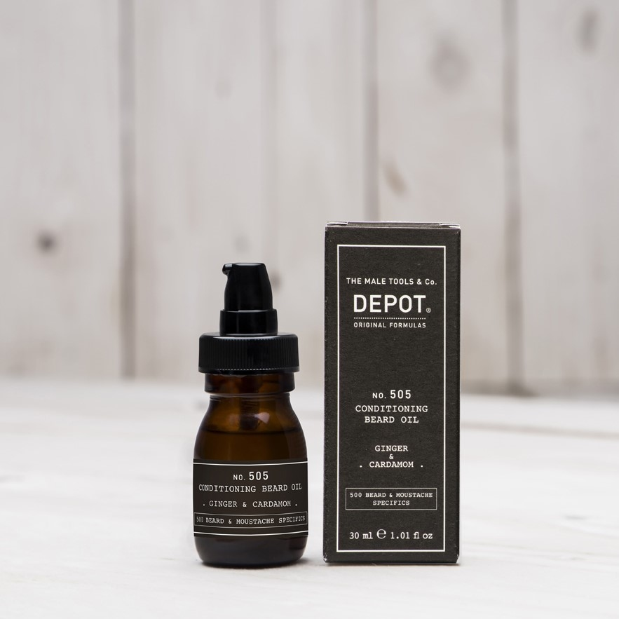 DEPOT No.505 CONDITIONING BEARD OIL GINGER & CARDAMOM